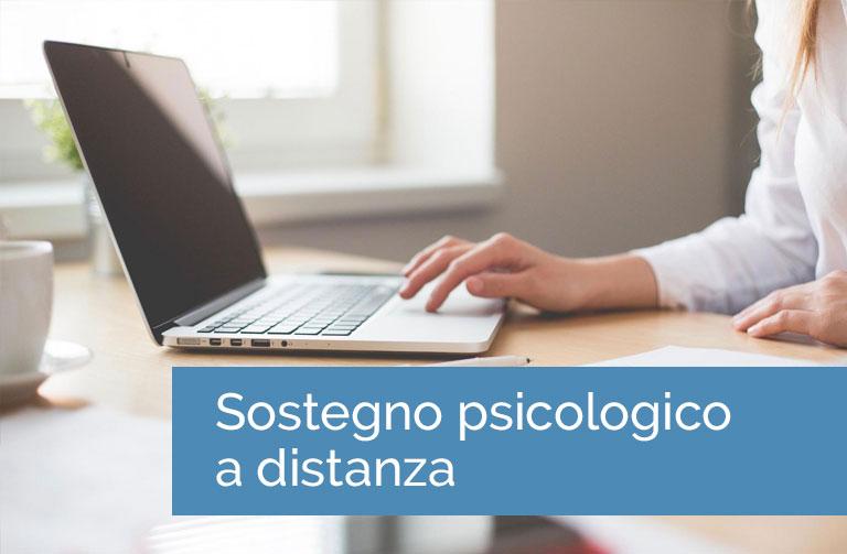 Sostegno psicologico a distanza per adulti e adolescenti