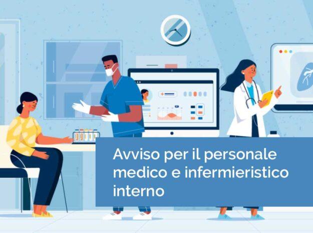 Avviso per il personale medico e infermieristico interno